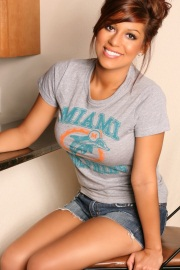 Briana Lee Miami Dolphins Fan - Picture 1